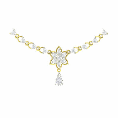 necklace jewellery for indian women in diamond and gold for wedding and engagement