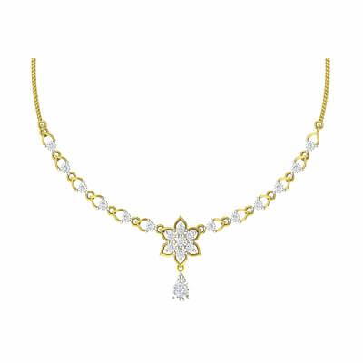 indian wedding gold necklace for brides in gold and diamond. Free shipping across india
