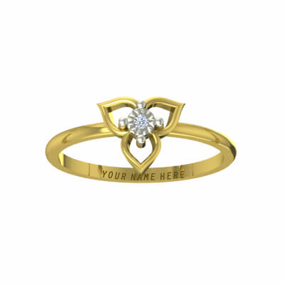 wedding ring designs with names in yellow gold and diamond. Available in 18k and 22K