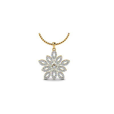 Diamond jewellery pendnat with star design