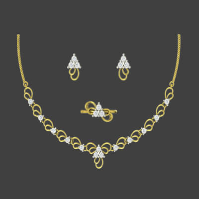 gold necklace designs for bridal in india with ring and earring