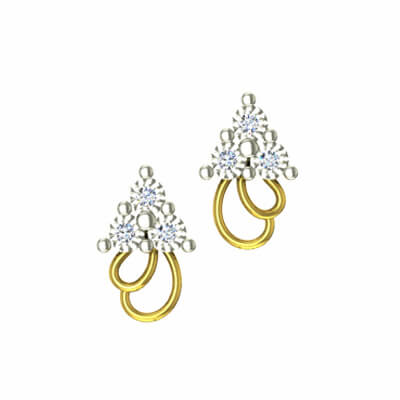latest gold earrings designs in india in 22k and 18k gold. Unique designs with 1 carat and 2 carat diamond