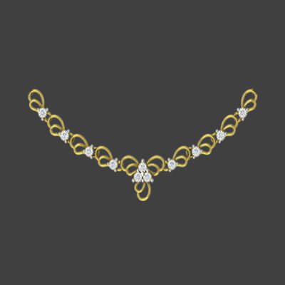 gold diamond necklace for women in india. Best prices at augrav.com with unique designs