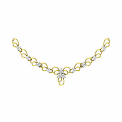 Unique gold diamond necklace for women in 22k and 18k. Free shipping in kolkata,pune,delhi and chennai