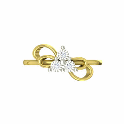 Customized engagement rings online in white and yellow gold. Free shipping across india.