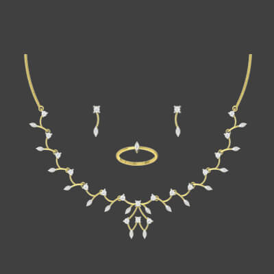 wedding gold necklace set with price in online at augrav.com. Free shipping across india