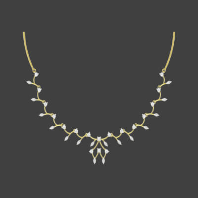Simple diamond necklace design in india for women and girls. price starts from 40000/- and free shipping