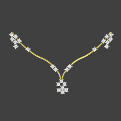 Necklace with diamond designs for women in 18k and 22k. starts from rs. 30000