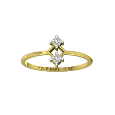 Indain wedding finger ring with name on it