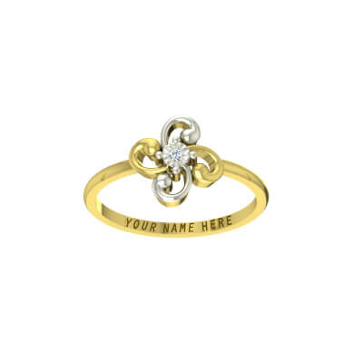 Couple rings gold with name foe wedding and engagement with bride and groom name engraved in it