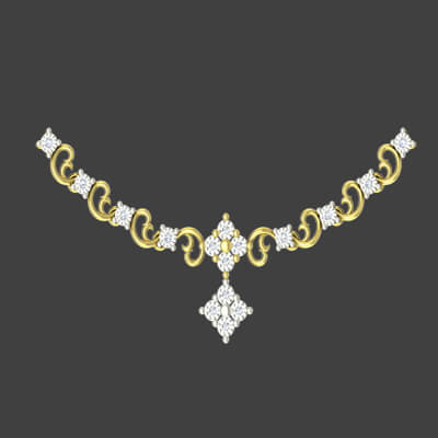 Traditional gold necklace designs for wedding with pure diamond and shipping in chennai,bangalore,coimbatore