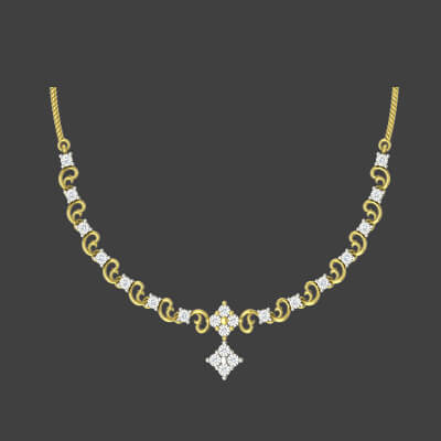 light weight gold necklace set online for wedding and engagement bride in india
