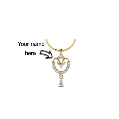 Customized Name Pendant India Gold Pendant For Baby Boy