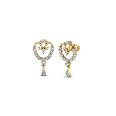 Unique diamond pendant designs for women with solitaire white diamond