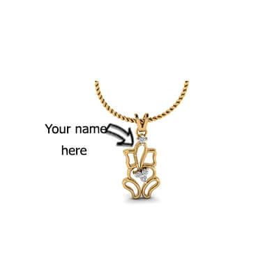VInayaga diamond pendant for kids with pure diamond for kids. Free shipping in chennai,mumbai,delhi and pune