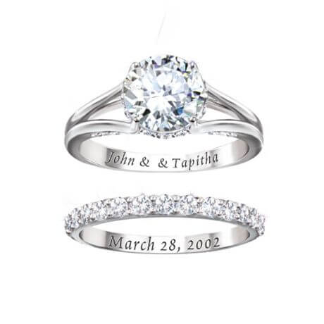 Wedding date engraved ring india