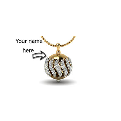 Your name ball pendant name pendant designs in gold for girls and boys in india free shipping in chennai aloadofball Choice Image