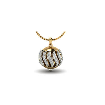 Modern gold pendant designs with pure diamond for men and women online at best price at augrav.com. Available in 18K and 22K