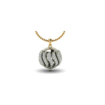 White gold pendant for indian husband in 18k and 22k with pure solitaire diamond in online