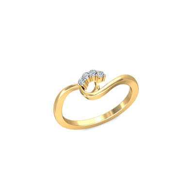 Yellow gold anniversary for wife from husband. Custom made with name engraving