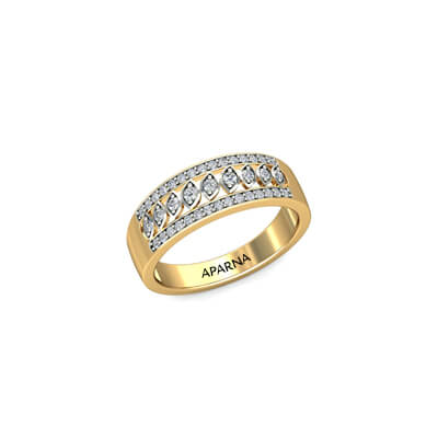 Indian solitaire ring in yellow gold for her