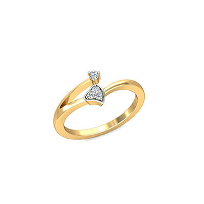 Unique engagement rings for women with name inside and outside the ring