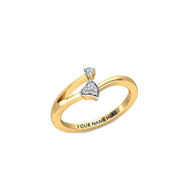 Betterhalf Gold Ring With Name AuGrav