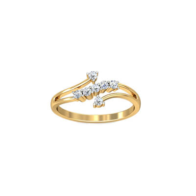 item designs dubai finger gold new rings rose design open ring korean moissanite ladies