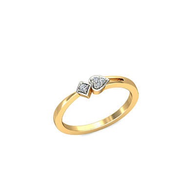 Unique gold engagement ring price in india with name engraving. Available in 18K and 22k