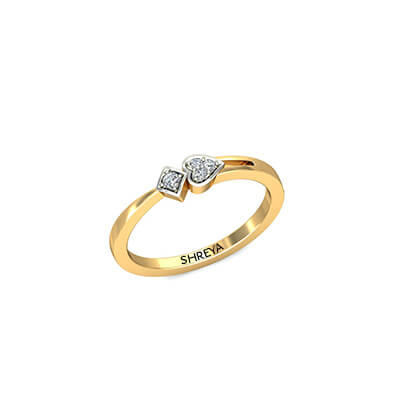 wedding yellow common rings gold set delicate diamond prong engagement rby