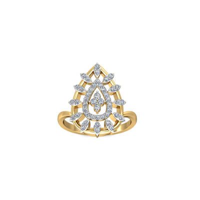 22k south indian gold engagement ring