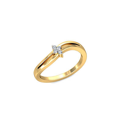 Engraved Matching Couple Ring In Gold with pure diamond. Available in 18K and 22K.