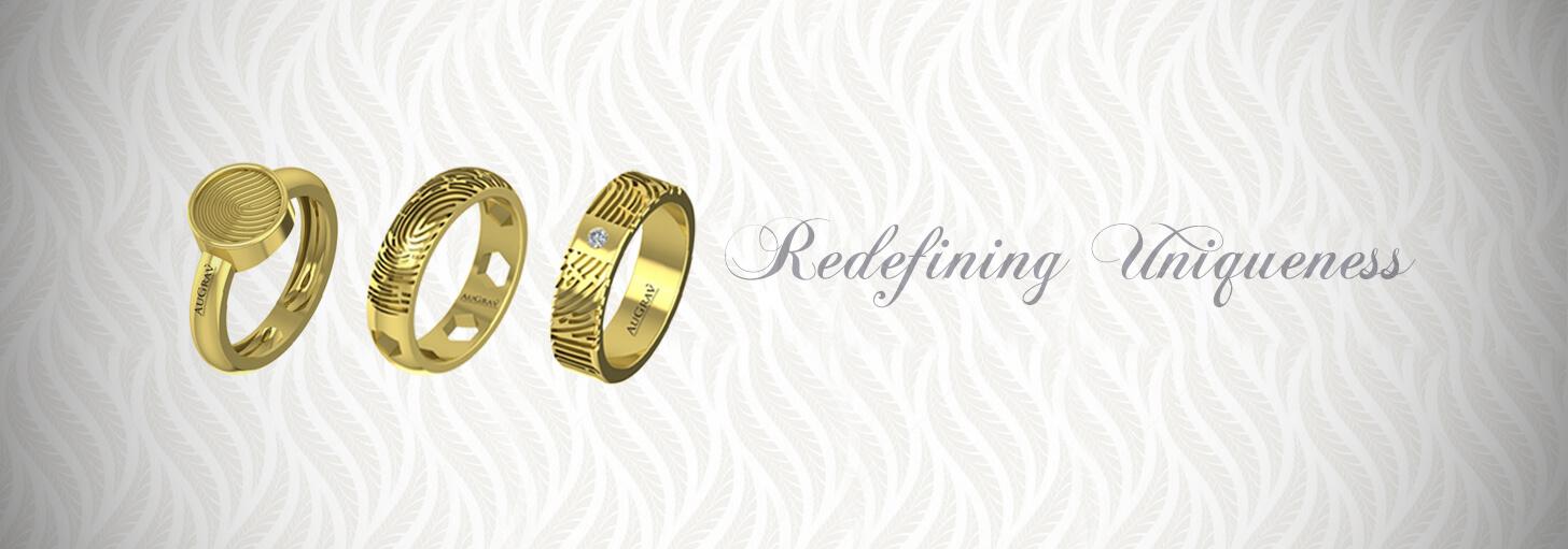 Buy Gold Rings With Fingerprint Engraved Inside And OutsideAuGrav