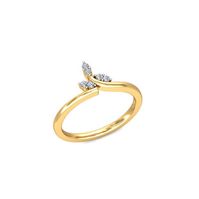 Love couple rings in gold and diamond. unique love rings for women,her and wife