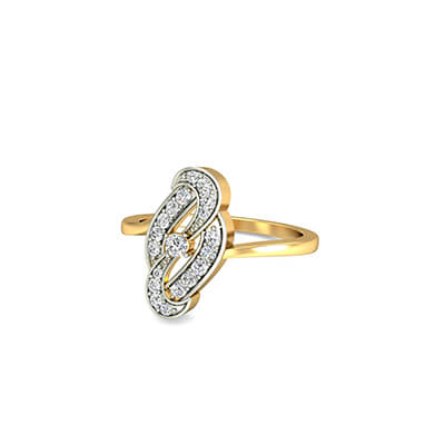 Infinity wedding diamond ring in gold. Free shipping across india.