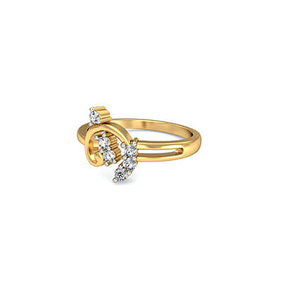 Yellow gold diamond rings with price online. Order online and free shipping at augrav.com