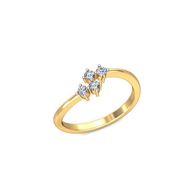 Couple engagement rings with name written on it