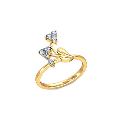 Womens Diamond ring for first anniversary. Unique ring for your wife from husband