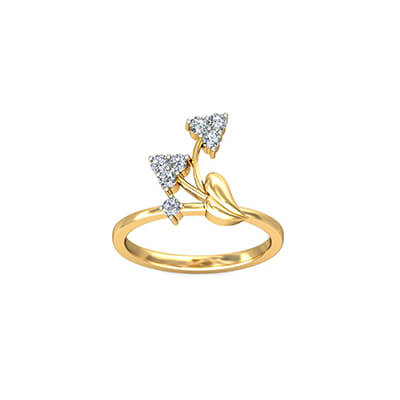 Three solitaire engagement ring for india. Available in 18K and 22K