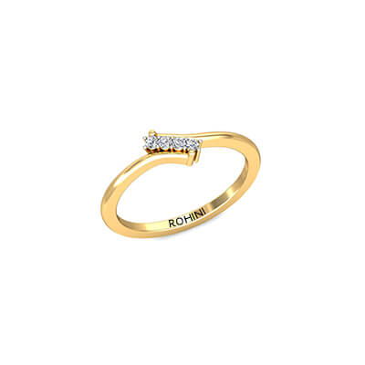 Ladies personalized ring for engagement online india