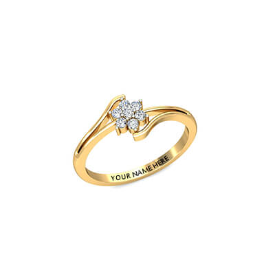 Promise 18k yellow gold diamond ring