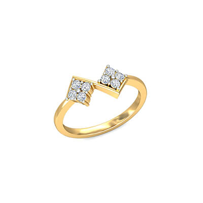 Wedding ring models with name sculpted on them. Order online and avail free shipping