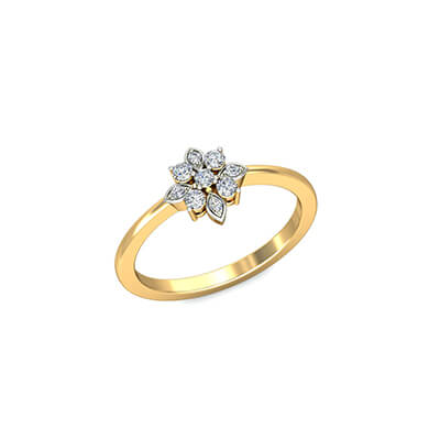 Radiant Womens Gold Ring