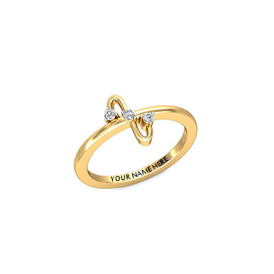 Unique first anniversary diamond ring for her
