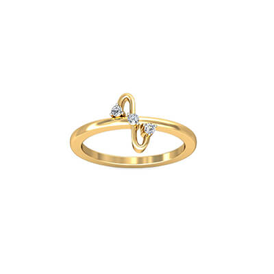 18K gold ring for indian women first anniversary