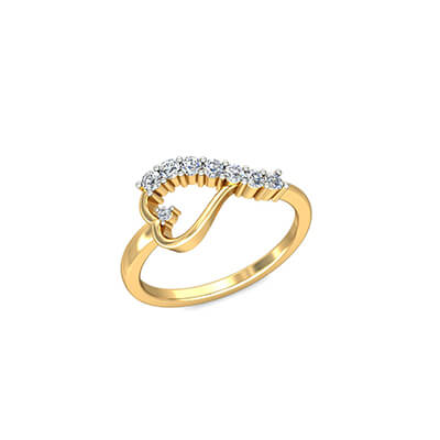 Unique gold promise ring for women to express love for her and wife