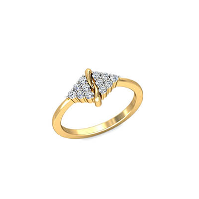 Name on diamond engagement ring. You can engrave couple name on it.