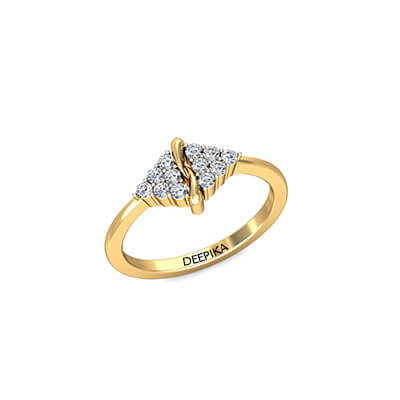 Diamond ring for wife for her birthday after wedding