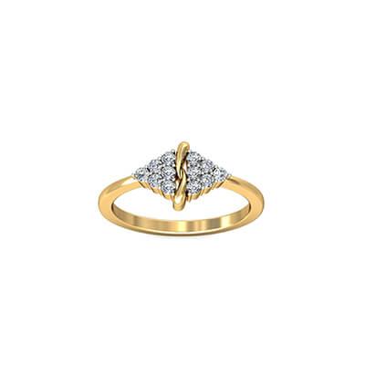 22k diamond yellow ring for her birthday