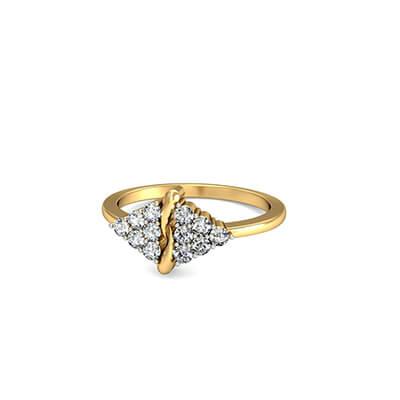 18K wedding gold ring for women india